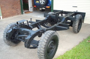 land rover rolling chassis